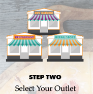 Step 2 Select the outlet you wish to order from.