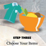 Step 3 Choose or enter the items you want.